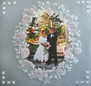 Embossed Parchment for Wedding Picture